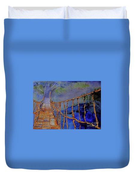 Rope Bridge Duvet Cover