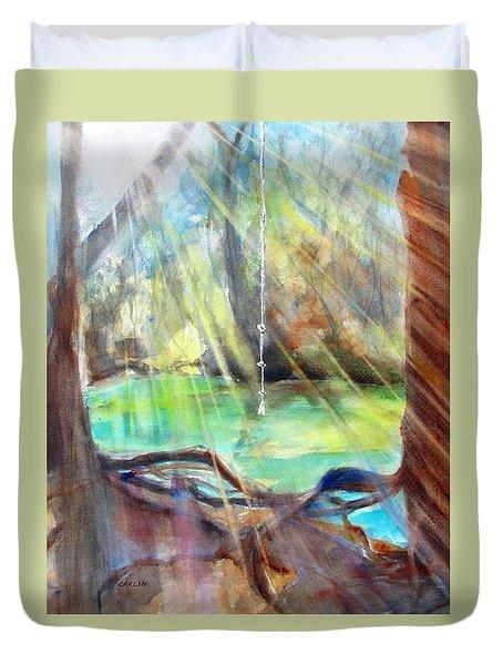 Rope Swing Duvet Cover by Carlin Blahnik