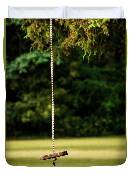 Duvet Cover featuring the photograph Rope Swing  by Shelby Young