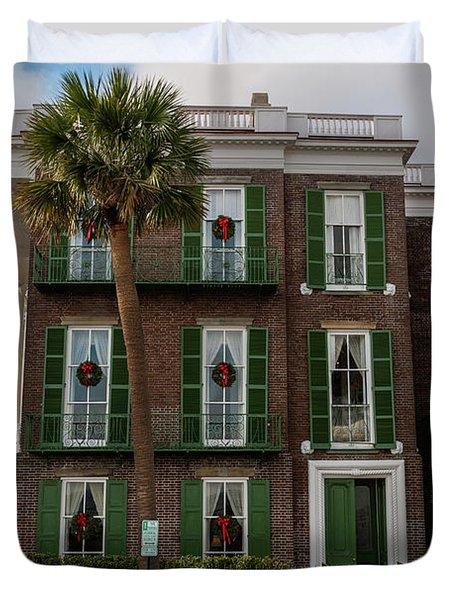 Roper Mansion In December Duvet Cover
