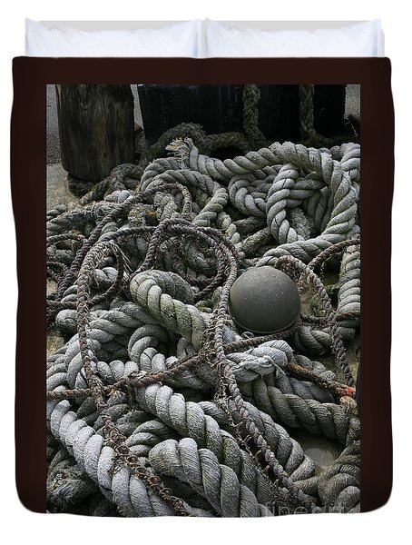 Ropes And Lines Duvet Cover