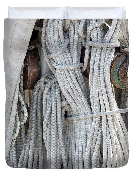 Ropes Of A Sailboat Duvet Cover