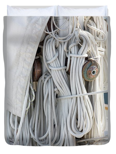 Ropes Of A Sailboat Duvet Cover