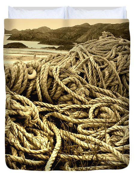 Ropes On Shore Duvet Cover