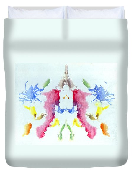 Rorschach Test Card No. 10 Duvet Cover