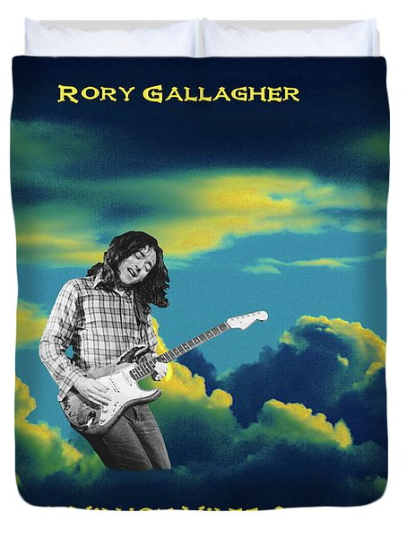 Duvet Cover featuring the photograph Rory Million Miles Away by Ben Upham