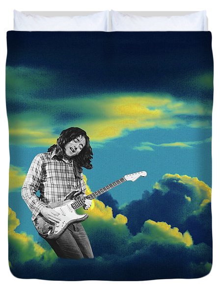Duvet Cover featuring the photograph Rory Morning Sun by Ben Upham