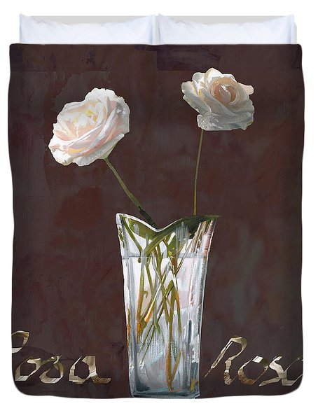 Rosa Rosae Duvet Cover by Guido Borelli