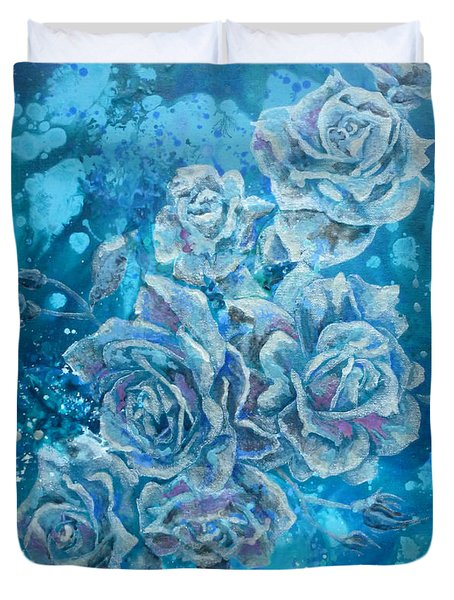Rosa Stellarum Duvet Cover