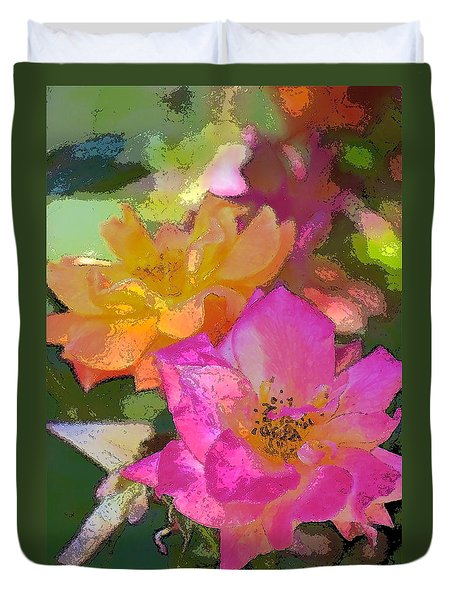 Duvet Cover featuring the photograph Rose 114 by Pamela Cooper