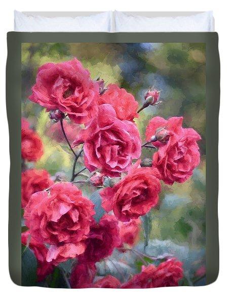 Rose 348 Duvet Cover by Pamela Cooper