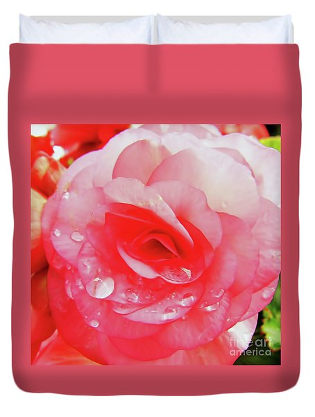 Rose After The Rain Duvet Cover