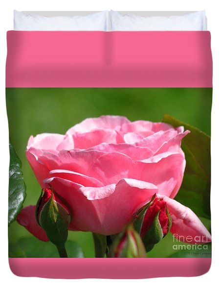 Rose And Buds Duvet Cover