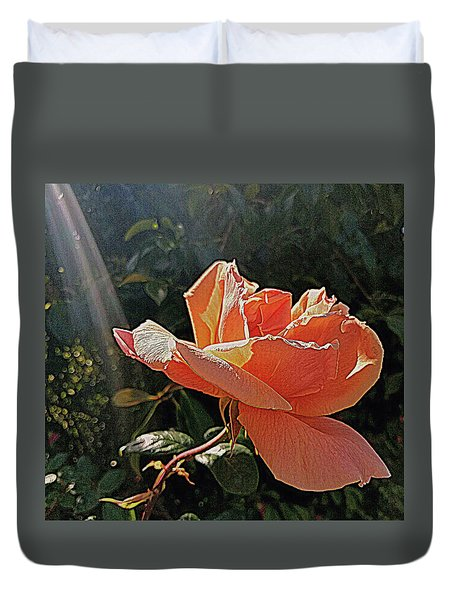 Rose And Rays Duvet Cover by Suzy Piatt