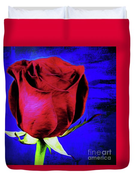 Rose - Beauty And Love  Duvet Cover by Ray Shrewsberry