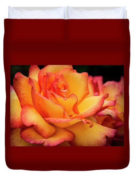 Duvet Cover featuring the photograph Rose Beauty by Jean Noren