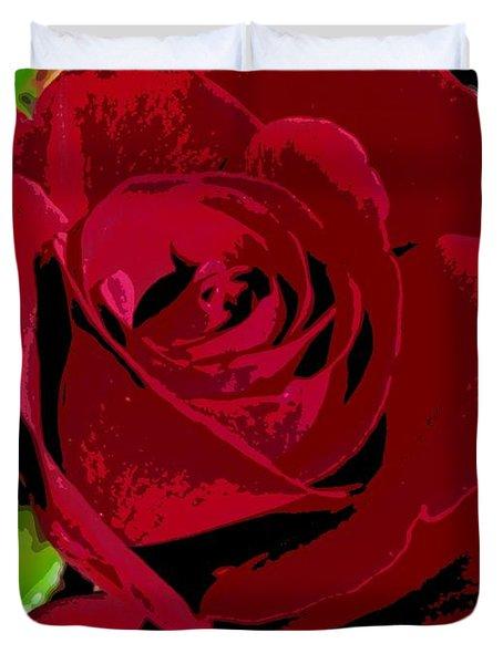 Rose Bloom Duvet Cover