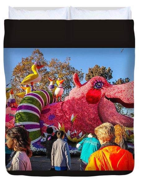 Rose Bowl Parade Duvet Cover by Robert Hebert