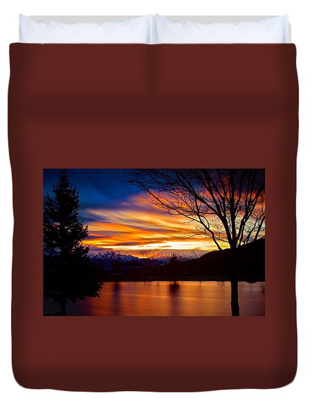 Rose Canyon Dawning Duvet Cover