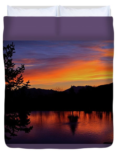 Rose Canyon Morning Duvet Cover