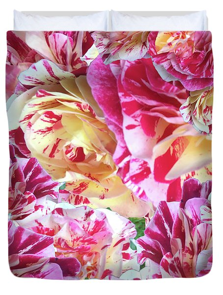 Rose Collage Duvet Cover