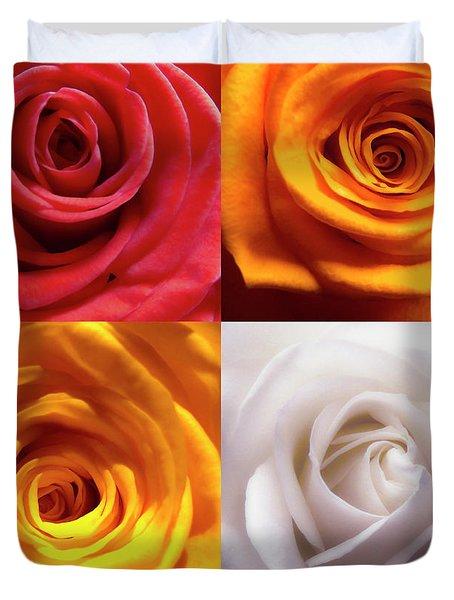 Rose Collage Duvet Cover