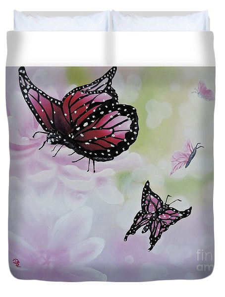 Rose Colored Glasses Duvet Cover by Dianna Lewis