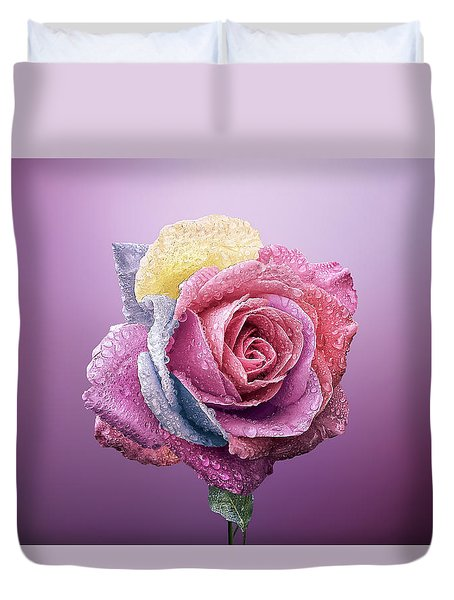 Rose Colorfull Duvet Cover