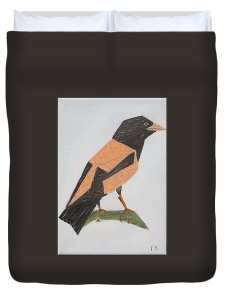 Rose-coloured Starling Duvet Cover