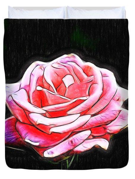 Rose Digital Duvet Cover