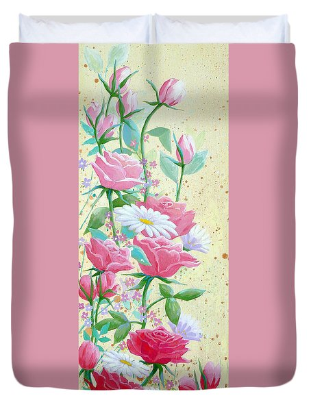 Rose Diptych 1 Duvet Cover