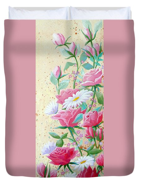 Rose Diptych 2  Duvet Cover