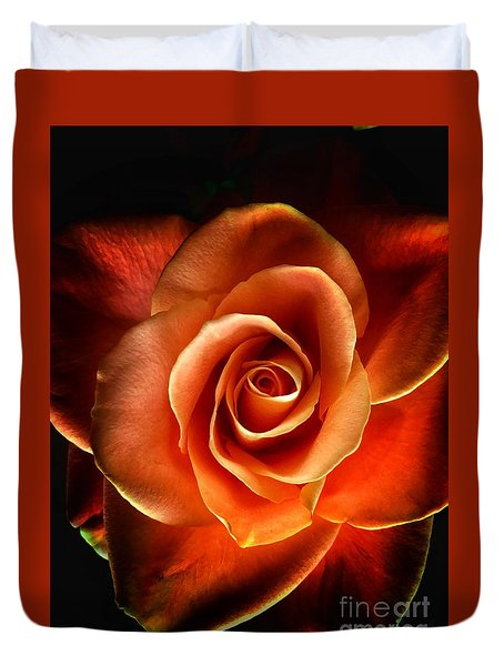 Duvet Cover featuring the photograph Rose by Donald Paczynski