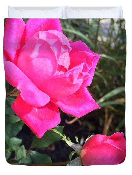 Rose Duet Duvet Cover