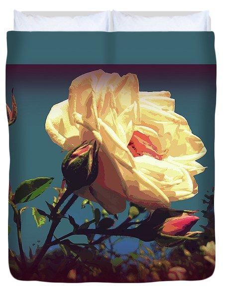 Rose Facing The Sun Duvet Cover by Susan Lafleur