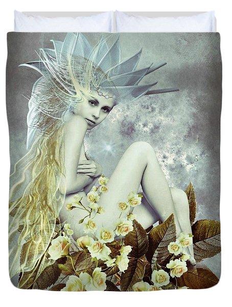 Rose Fairy Duvet Cover by Ali Oppy