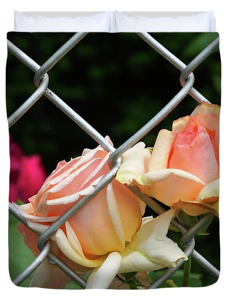 Rose Fence Duvet Cover