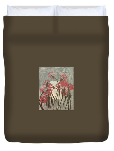 Rose Field Duvet Cover by Artists With Autism Inc