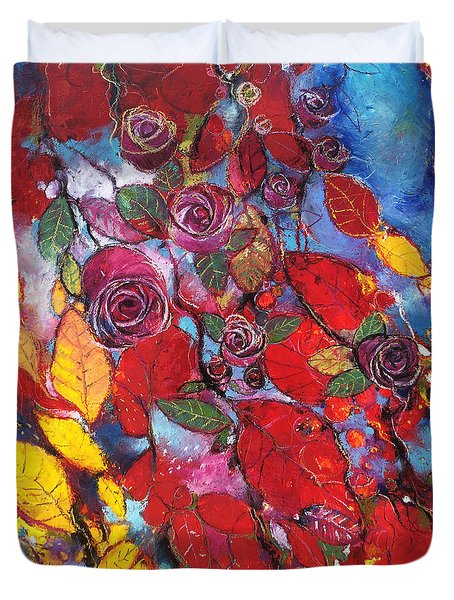 Rose Garden Duvet Cover by Alessandro Andreuccetti