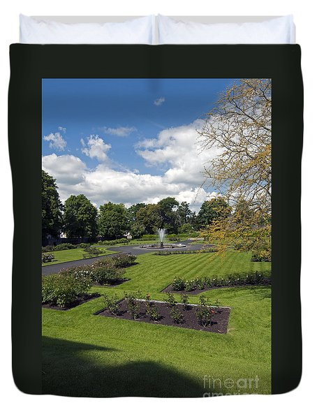 Rose Garden At Kilkenny Castle Duvet Cover by Cindy Murphy - NightVisions