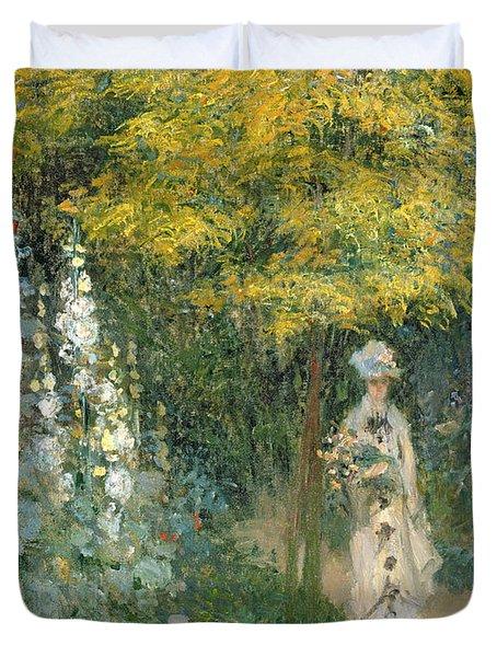 Rose Garden Duvet Cover by Claude Monet