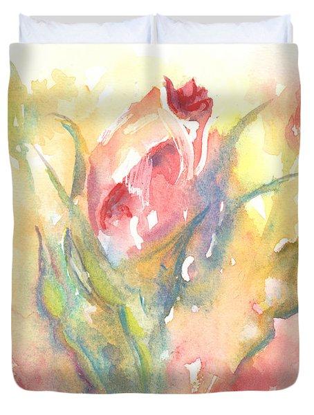 Rose Garden One Duvet Cover