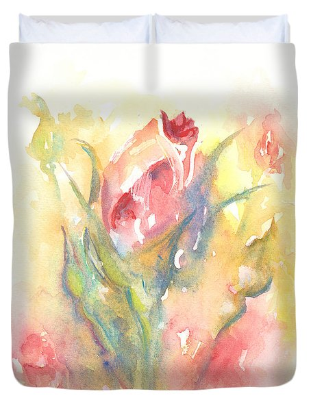 Rose Garden One Duvet Cover by Elizabeth Lock
