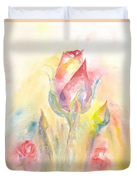 Rose Garden Two Duvet Cover