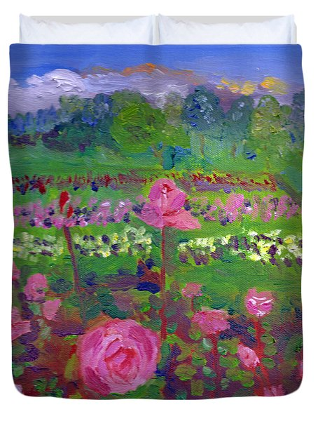 Rose Gardens In Minneapolis Duvet Cover