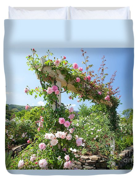 Rose Gate Duvet Cover