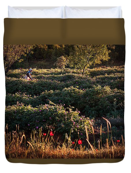 Rose Harvest Duvet Cover