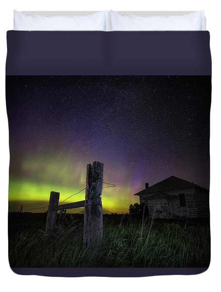 Duvet Cover featuring the photograph Rose Hill by Aaron J Groen
