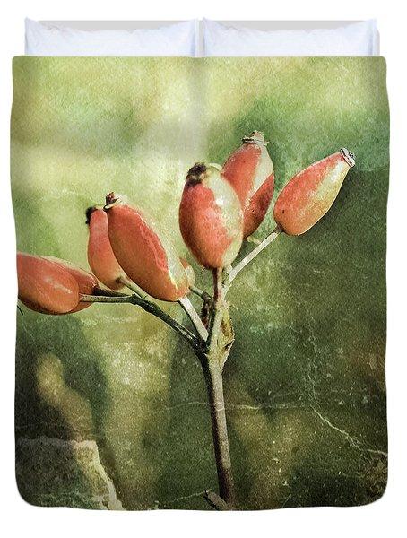 Rose Hips Duvet Cover by Mandy Tabatt