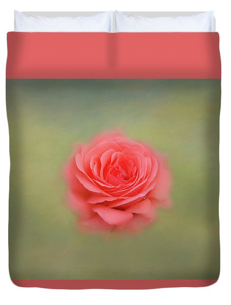 Duvet Cover featuring the photograph Rose Impressions by Kim Hojnacki